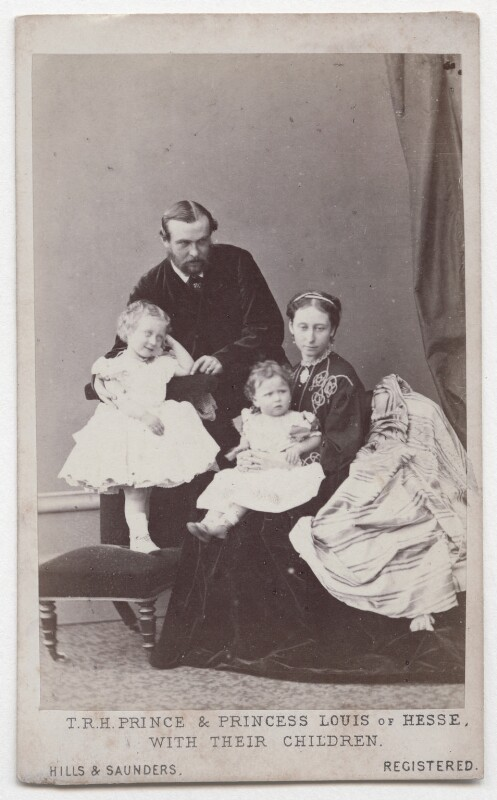 The Duke and Duchess of Hesse and by Rhine with their two eldest daughters, by Hills & Saunders, November 1865 - NPG x197987 - © National Portrait Gallery, London