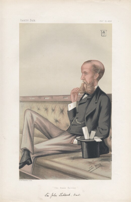 John Lubbock, 1st Baron Avebury ('Statesmen. No. 267.'), by Sir Leslie Ward, published in Vanity Fair 23 February 1878 - NPG D43837 - © National Portrait Gallery, London
