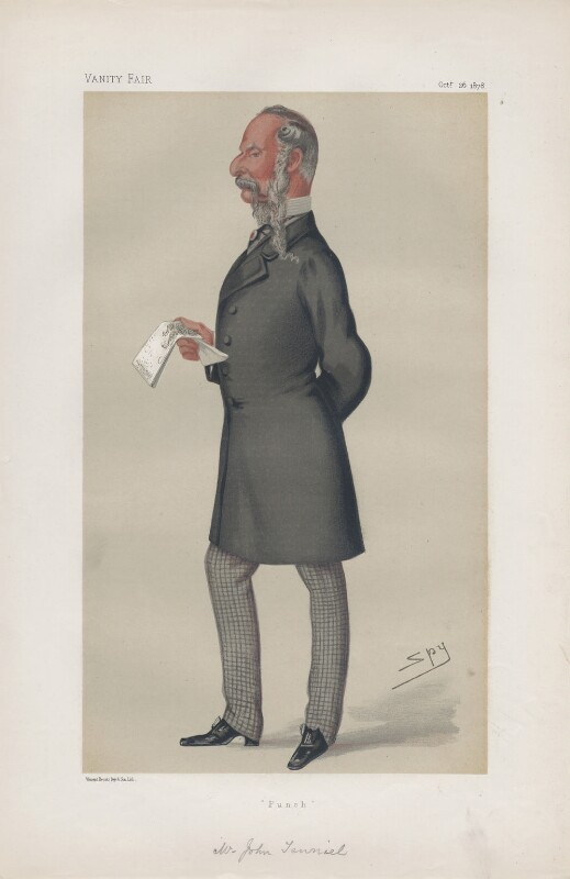 Sir John Tenniel ('Men of the Day. No. 185.'), by Sir Leslie Ward, published in Vanity Fair 26 October 1878 - NPG D43873 - © National Portrait Gallery, London
