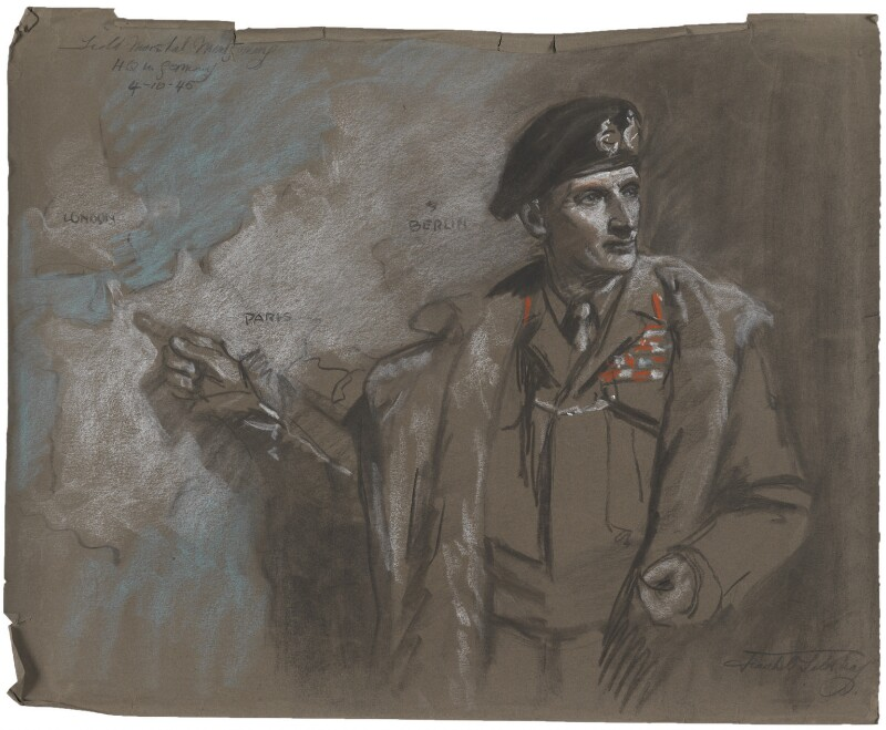 Bernard Law Montgomery, 1st Viscount Montgomery of Alamein, by Frank Salisbury, 1945 - NPG 7008(1) -