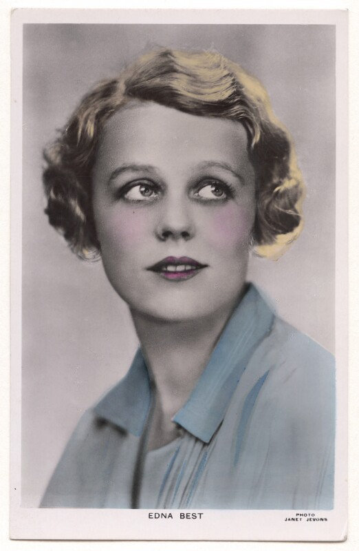 Edna Best, by Janet Jevons, 1920s - NPG x198087 - © reserved; collection National Portrait Gallery, London