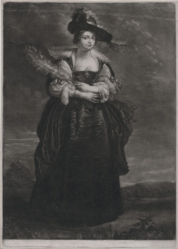 Probably Hélène Fourment (later Rubens), by James Macardell, after  Sir Peter Paul Rubens, circa 1746-1765 (circa 1630-1632) - NPG D45865 - © National Portrait Gallery, London