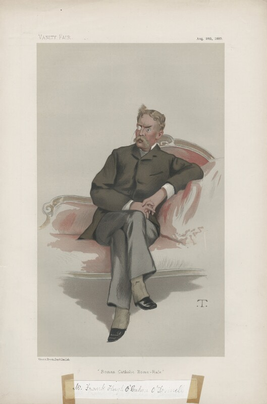 Frank Hugh O'Cahan O'Donnell ('Statesmen. No. 336.'), by Théobald Chartran ('T'), published in Vanity Fair 28 August 1880 - NPG D43974 - © National Portrait Gallery, London