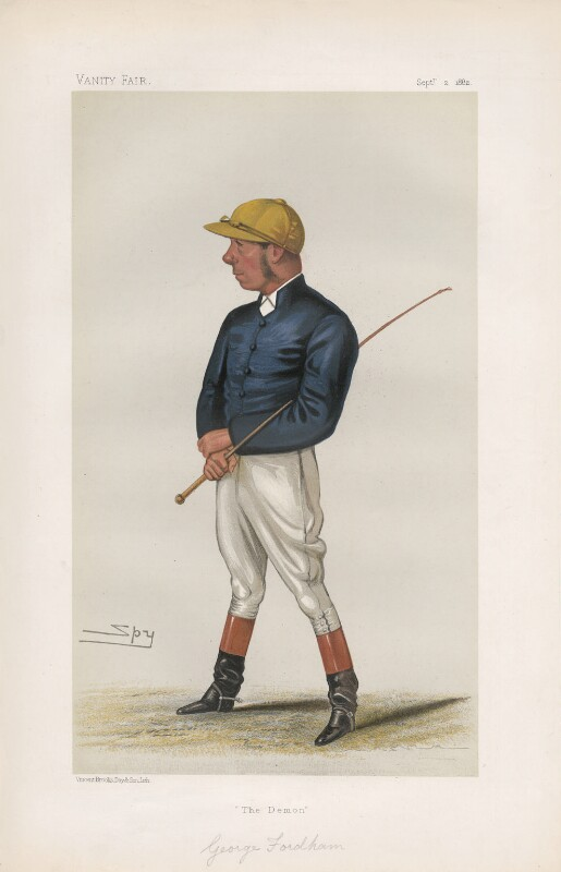 George Fordham ('Men of the Day. No. 262.'), by Sir Leslie Ward, published in Vanity Fair 2 September 1882 - NPG D44083 - © National Portrait Gallery, London