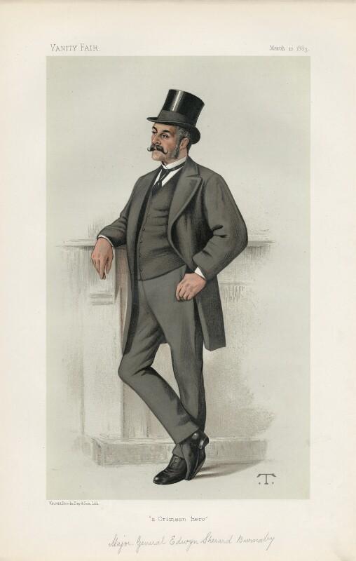 Edwyn Sherard Burnaby ('Statesmen. No. 419.'), by Théobald Chartran ('T'), published in Vanity Fair 10 March 1883 - NPG D44111 - © National Portrait Gallery, London