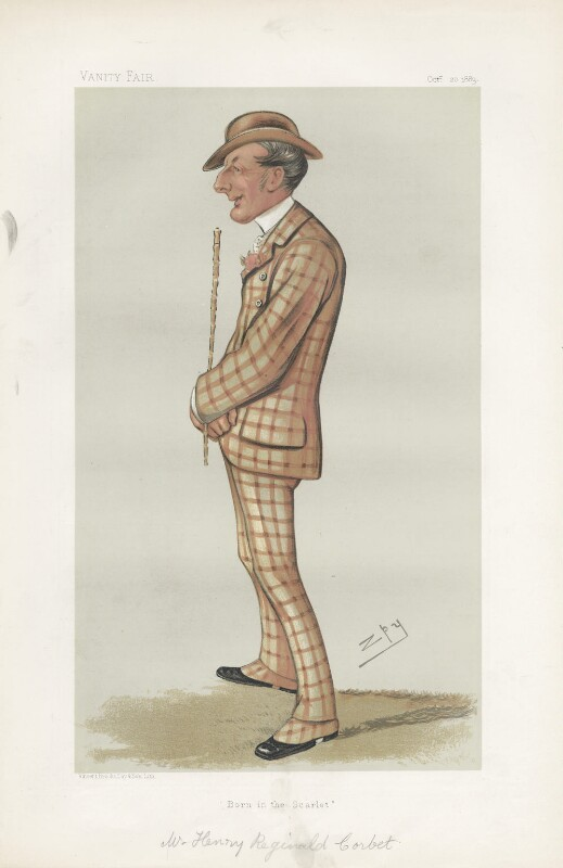 Henry Reginald Corbet ('Men of the Day. No. 291.'), by Sir Leslie Ward, published in Vanity Fair 20 October 1883 - NPG D44143 - © National Portrait Gallery, London