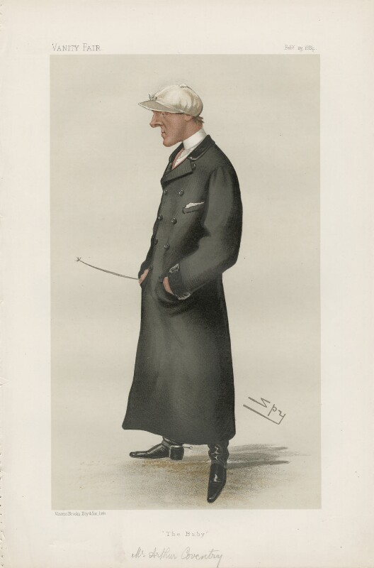 Arthur Coventry ('Men of the Day. No. 300.'), by Sir Leslie Ward, published in Vanity Fair 23 February 1884 - NPG D44162 - © National Portrait Gallery, London