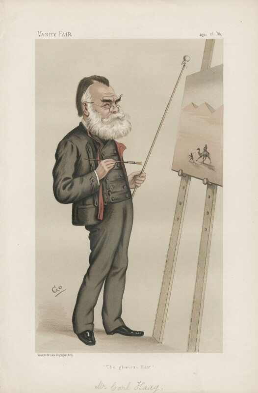 (Johann) Carl Haag ('Men of the Day. No. 304.'), by F. Goedecker, published in Vanity Fair 26 April 1884 - NPG D44171 - © National Portrait Gallery, London