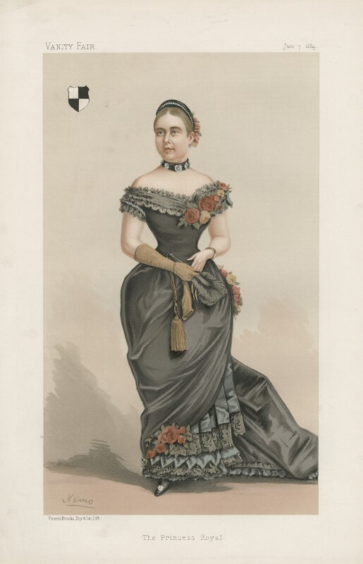 Victoria, Empress of Germany and Queen of Prussia ('Ladies. No. 11.'), by Constantine von Grimm ('Nemo'), published in Vanity Fair 7 June 1884 - NPG D44177 - © National Portrait Gallery, London