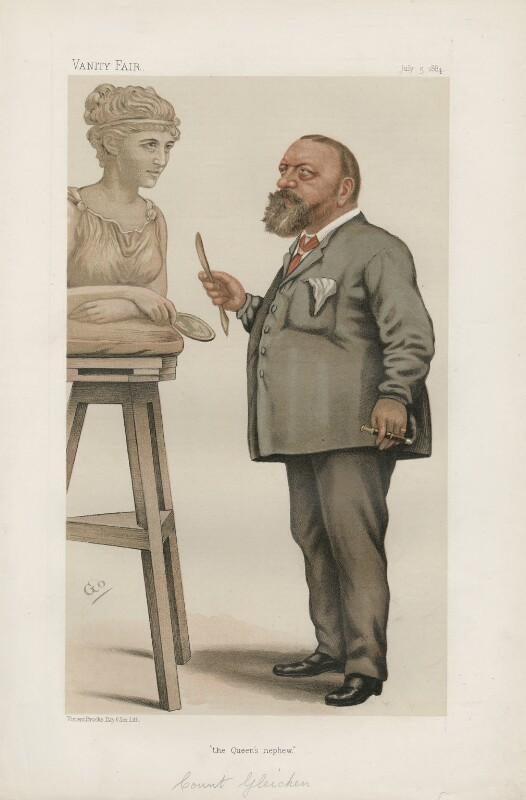 Count Gleichen ('Princes. No. 8.'), by F. Goedecker, published in Vanity Fair 5 July 1884 - NPG D44181 - © National Portrait Gallery, London