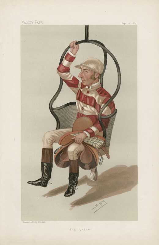 Thomas ('Tom') Cannon Sr ('Men of the Day. No. 340.'), by Sir Leslie Ward, published in Vanity Fair 12 September 1885 - NPG D44243 - © National Portrait Gallery, London