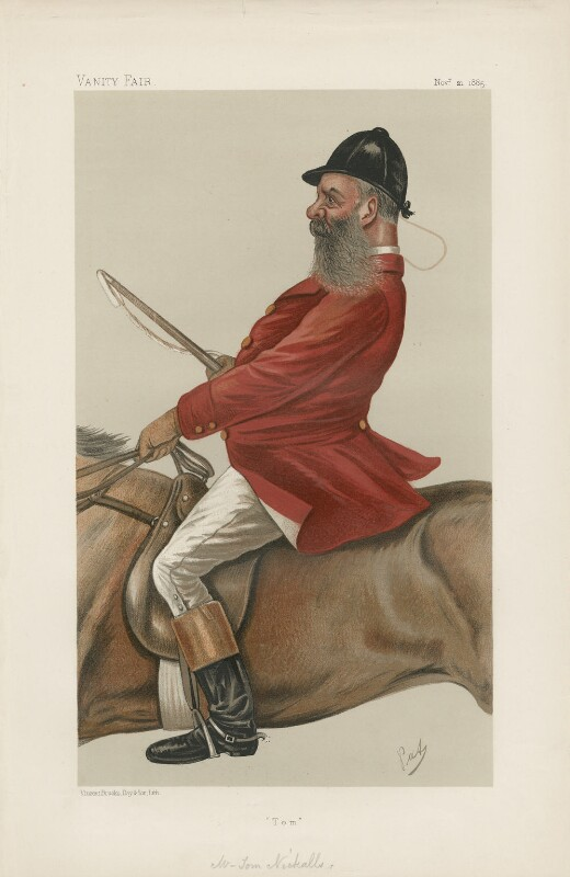 Thomas ('Tom') Nickalls ('Men of the Day. No. 344.'), by 'PAT', possibly by  F. Goedecker, published in Vanity Fair 21 November 1885 - NPG D44253 - © National Portrait Gallery, London