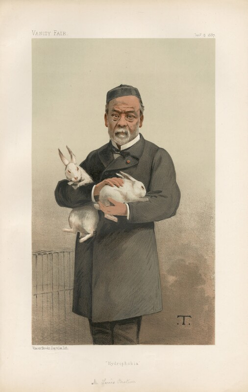 Louis Pasteur ('Men of the Day. No. 372.'), by Théobald Chartran ('T'), published in Vanity Fair 8 January 1887 - NPG D44314 - © National Portrait Gallery, London