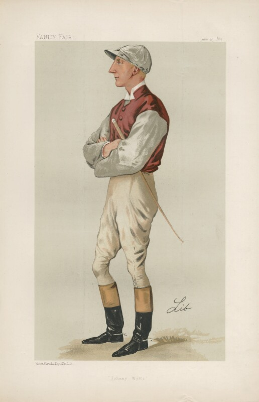 John ('Jack') Watts ('Men of the Day. No. 380.'), by Liborio Prosperi ('Lib'), published in Vanity Fair 25 June 1887 - NPG D44338 - © National Portrait Gallery, London