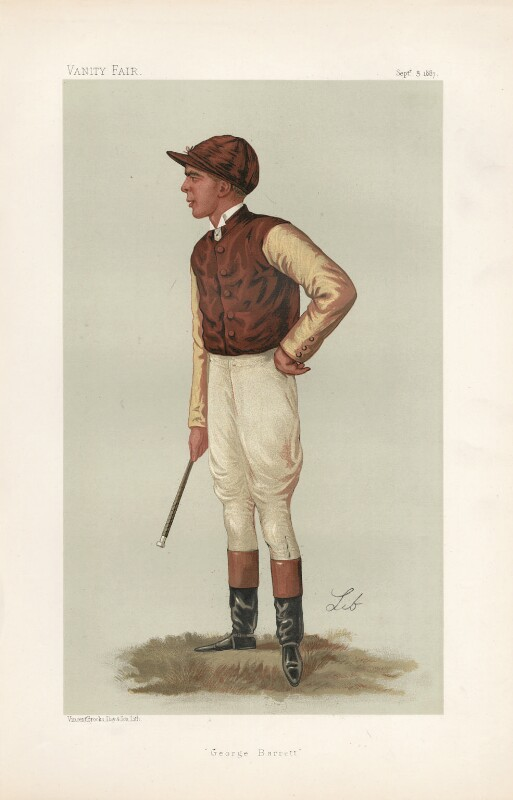 (Colin) George Barrett ('Men of the Day. No. 386.'), by Liborio Prosperi ('Lib'), published in Vanity Fair 3 September 1887 - NPG D44348 - © National Portrait Gallery, London