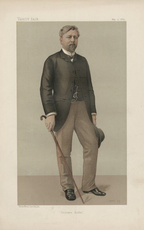 Alexandre Gustave Eiffel ('Men of the Day. No. 424.'), by Jean Baptiste Guth ('GUTH'), published in Vanity Fair 11 May 1889 - NPG D44437 - © National Portrait Gallery, London