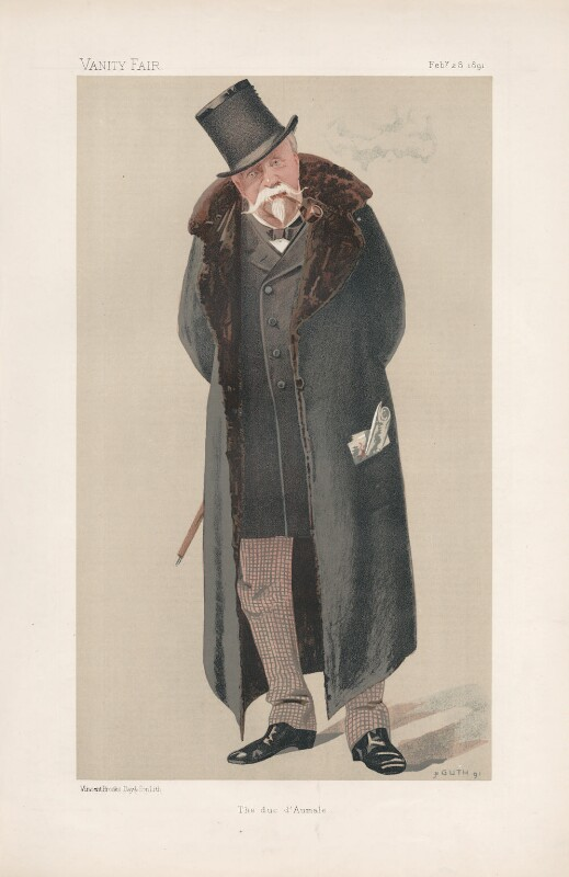 Henri Eugène Philippe Louis d'Orléans, duc d'Aumale ('Princes. No. 14.'), by Jean Baptiste Guth ('GUTH'), published in Vanity Fair 28 February 1891 - NPG D44531 - © National Portrait Gallery, London