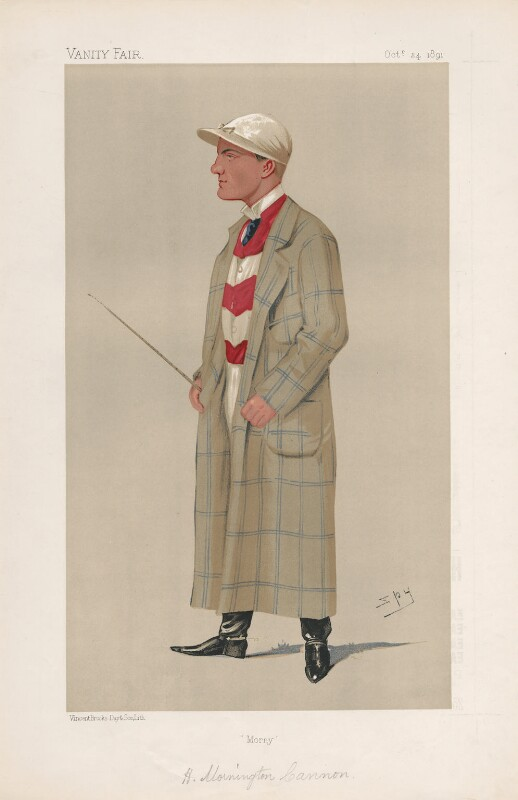 (Herbert) Mornington ('Morny') Cannon ('Men of the Day. No. 521.'), by Sir Leslie Ward, published in Vanity Fair 24 October 1891 - NPG D44565 - © National Portrait Gallery, London