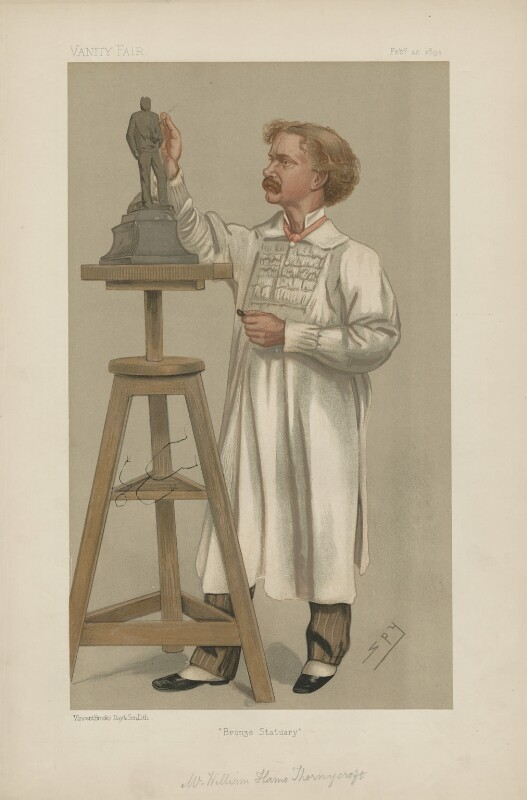 Hamo Thornycroft ('Men of the Day. No. 533.'), by Sir Leslie Ward, published in Vanity Fair 20 February 1892 - NPG D44582 - © National Portrait Gallery, London