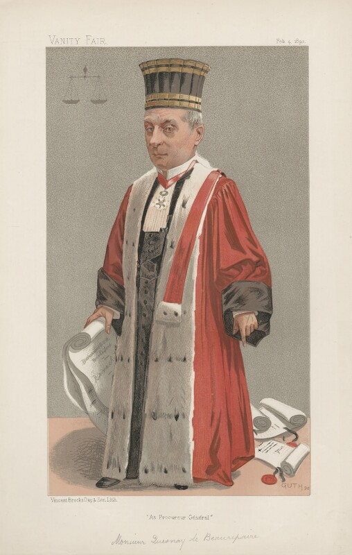 Jules Quesnay de Beaurepaire ('Men of the Day. No. 555.'), by Jean Baptiste Guth ('GUTH'), published in Vanity Fair 4 February 1893 - NPG D44632 - © National Portrait Gallery, London