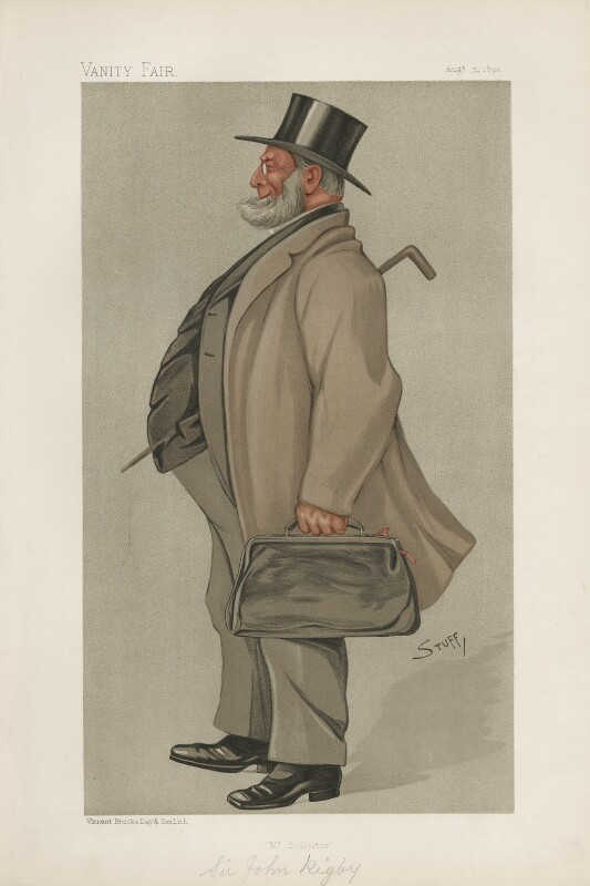 Sir John Rigby ('Statesmen. No. 616.'), by Harold Wright ('Stuff'), published in Vanity Fair 31 August 1893 - NPG D44662 - © National Portrait Gallery, London