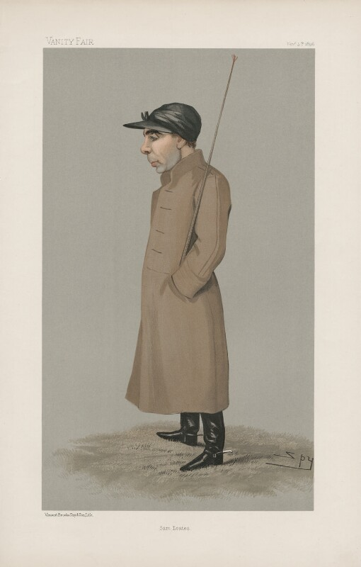 Thomas ('Tom') Loates ('Men of the Day. No. 662.'), by Sir Leslie Ward, published in Vanity Fair 5 November 1896 - NPG D44828 - © National Portrait Gallery, London