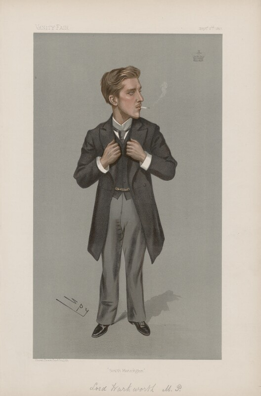 Henry Algernon George Percy, Earl Percy ('Statesmen. No. 689.'), by Sir Leslie Ward, published in Vanity Fair 2 September 1897 - NPG D44871 - © National Portrait Gallery, London