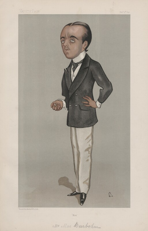 Sir Max Beerbohm ('Men of the Day. No. 696.'), by Walter Sickert, published in Vanity Fair 9 December 1897 - NPG D44885 - © National Portrait Gallery, London