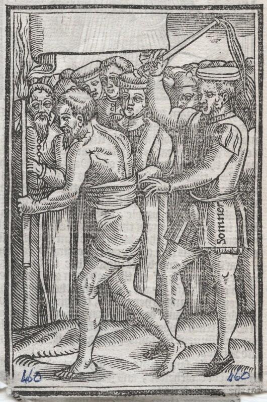 Thomas Pye (Pie) or John Mendham ('The description of the penance of Thomas Pye, and John Mendham'), after Unknown artist, published 1563 or after - NPG D45873 - © National Portrait Gallery, London