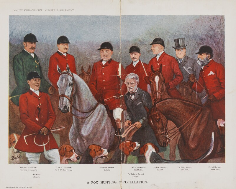 A Fox Hunting Constellation, by 'Bede', published in Vanity Fair 7 December 1905 - NPG D45304 - © National Portrait Gallery, London