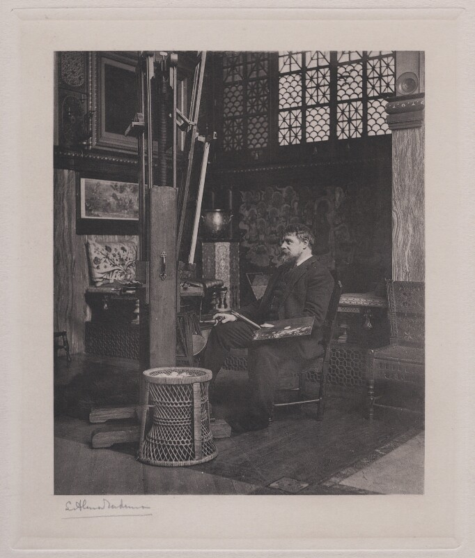 Sir Lawrence Alma-Tadema, published by Berlin Photographic Co, published 1895 - NPG x199109 - © National Portrait Gallery, London