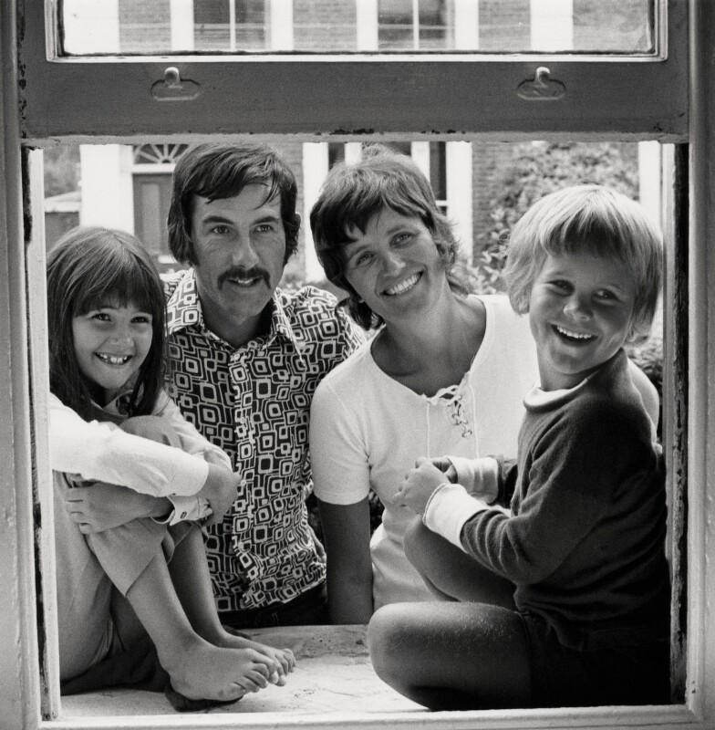 Caitlin Davies; Hunter Davies; Margaret Forster; Jake Davies, by Anthea Sieveking, mid 1970s - NPG x199133 - © Anthea Sieveking