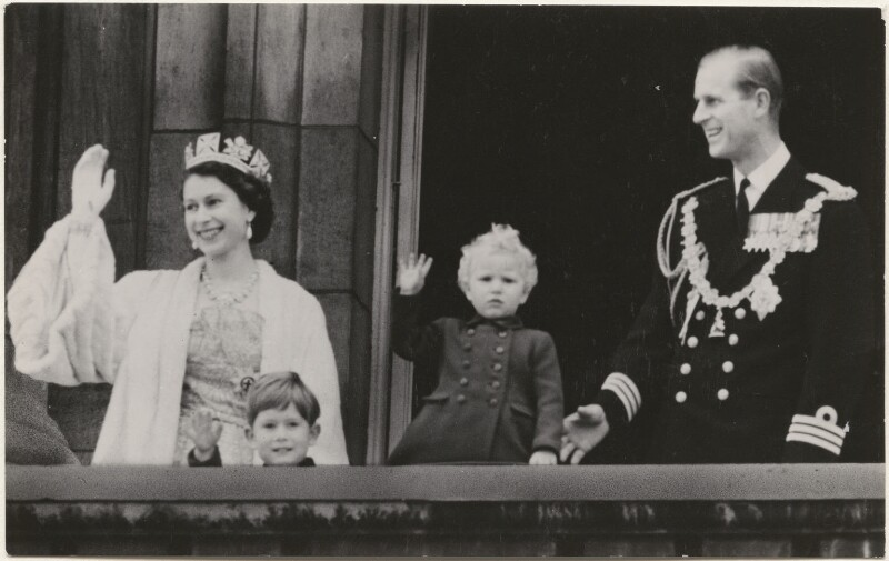 NPG P1408; Prince Charles; Queen Elizabeth II; Princess