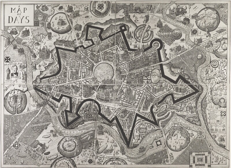 'Map of Days', by Grayson Perry, 2013 - NPG 6998 - © Grayson Perry and Paragon | Contemporary Editions Ltd