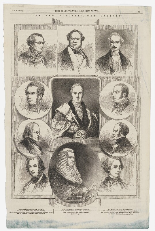 'The New Ministry - the Cabinet', January 1853, by Frederick James Smyth, published 8 January 1853 - NPG D45901 - © National Portrait Gallery, London