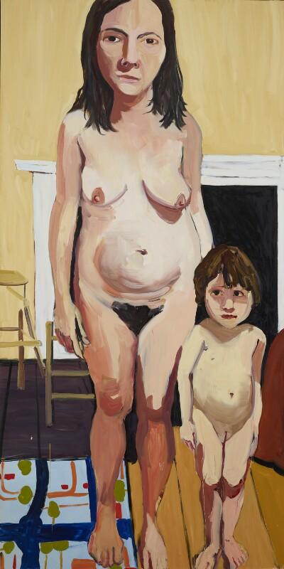 Chantal Joffe ('Self Portrait with Esme'), by Chantal Joffe, 2008 - NPG 7013 - © Chantal Joffe