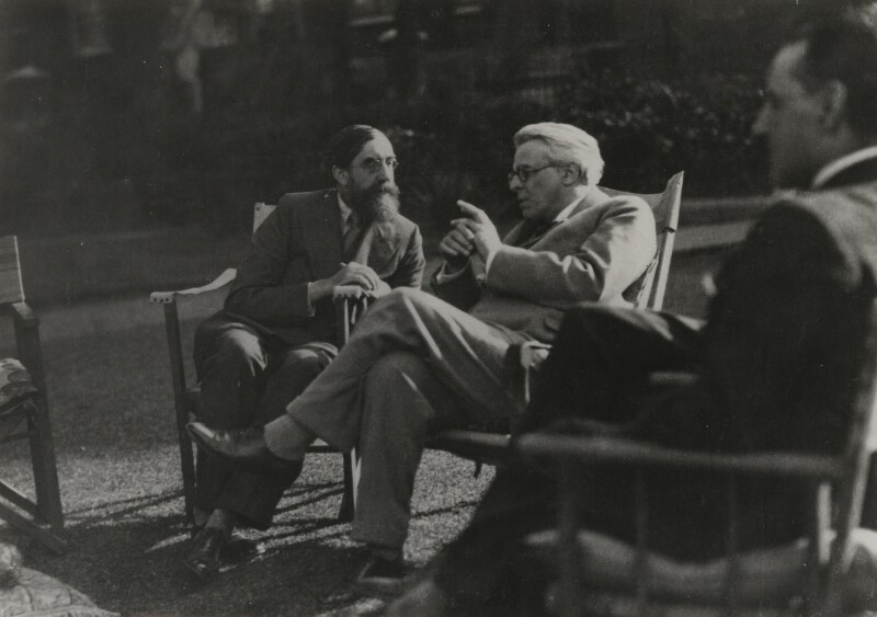 'Lytton agrees and admires' (Lytton Strachey; W.B. Yeats), by Lady Ottoline Morrell, 1931 - NPG x143307 - © National Portrait Gallery, London