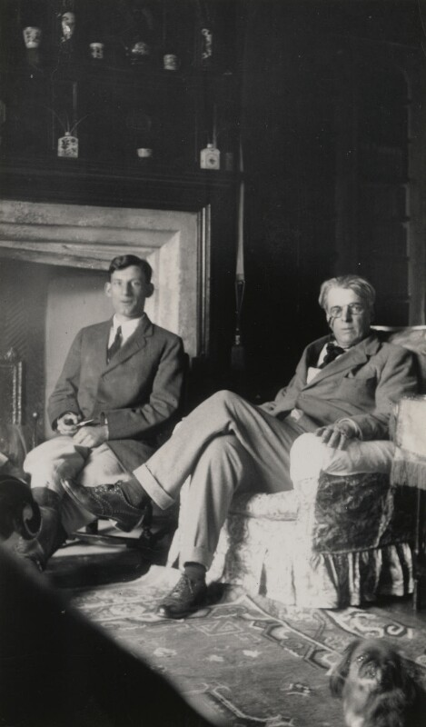 Siegfried Sassoon; W.B. Yeats, by Lady Ottoline Morrell, September 1920 - NPG x144308 - © National Portrait Gallery, London