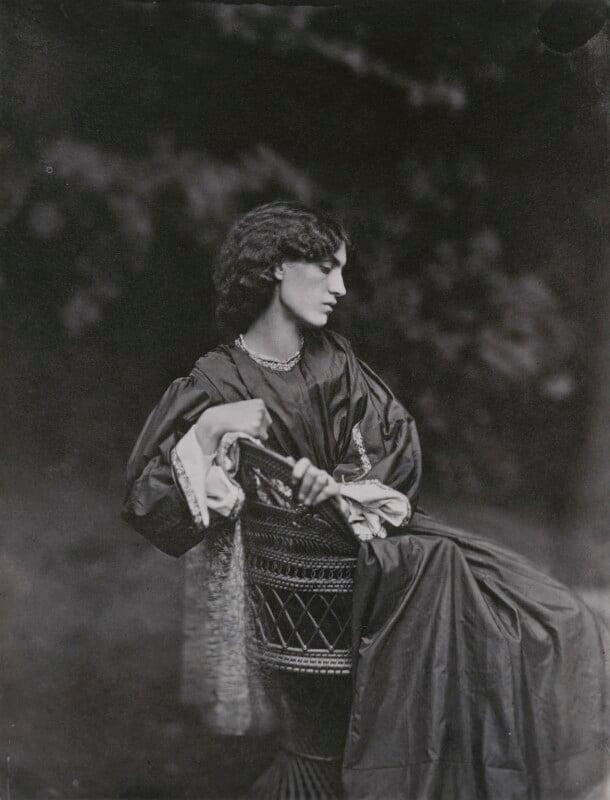 Jane Morris (née Burden), by John Robert Parsons, copied by  Emery Walker Ltd, July 1865 - NPG x199254 - © National Portrait Gallery, London