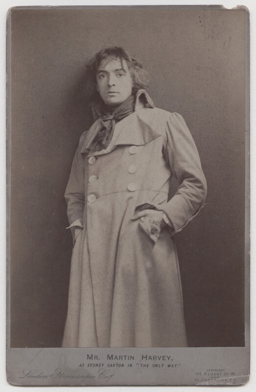 Sir John Martin-Harvey as Sydney Carton in 'The Only Way', by London Stereoscopic & Photographic Company, 1899 - NPG x196976 - © National Portrait Gallery, London