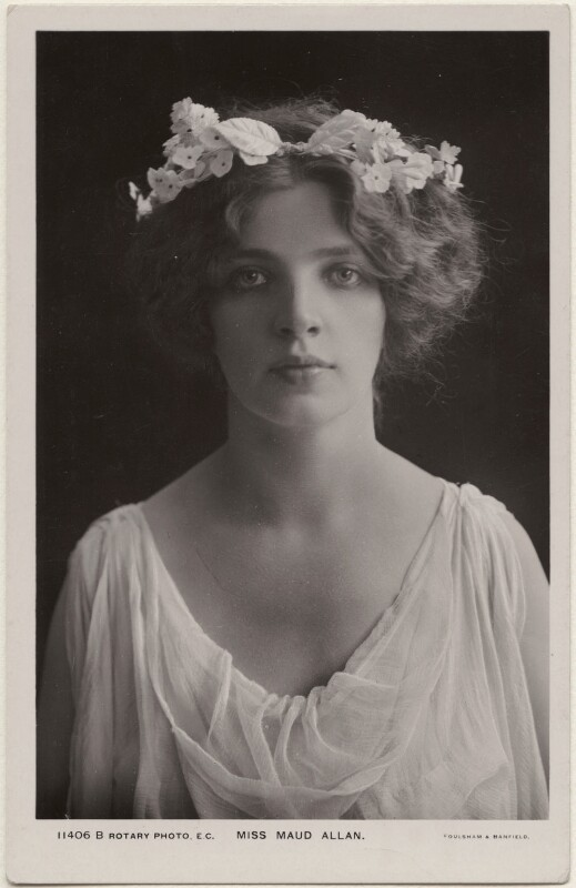 Maud Allan, by Foulsham & Banfield, published by  Rotary Photographic Co Ltd, 1900s - NPG x198170 - © National Portrait Gallery, London