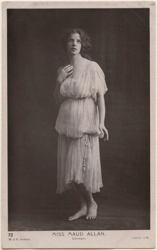 Maud Allan, by W. & D. Downey, 1900s - NPG x198171 - © National Portrait Gallery, London