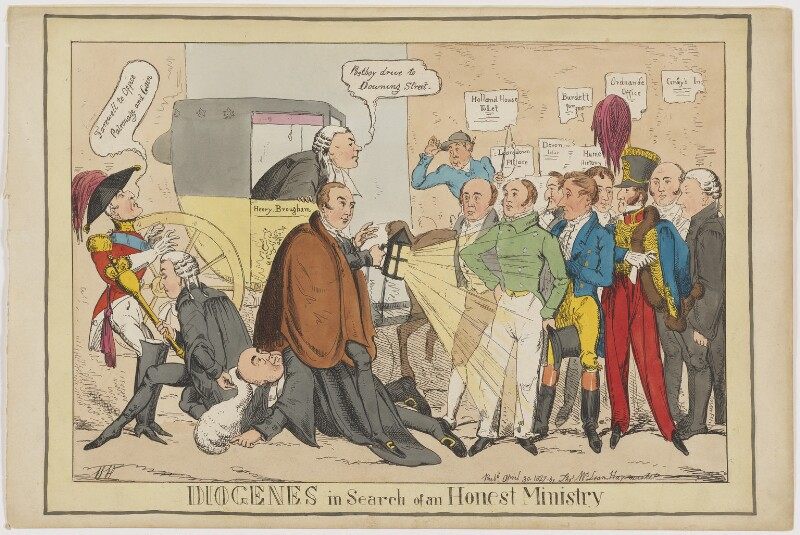 Diogenese in Search of an Honest Ministry, by Henry Heath, published by  Thomas McLean, published 30 April 1827 - NPG D46030 - © National Portrait Gallery, London