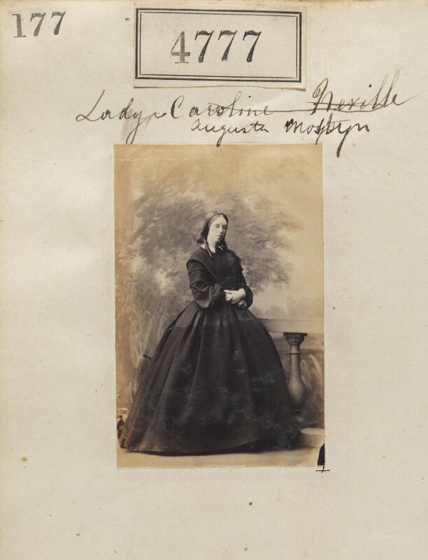 Lady (Henrietta) Augusta Lloyd-Mostyn (née Nevill), by Camille Silvy, 5 July 1861 - NPG Ax54788 - © National Portrait Gallery, London