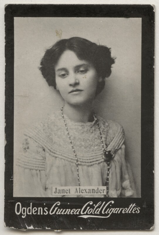 Janet Alexander, by The Biograph Studio, published by  Ogden's, published mid 1900s - NPG x196890 - © National Portrait Gallery, London