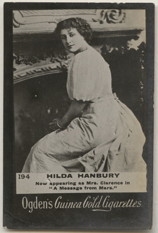 Hilda Louise Hanbury, published by Ogden's, published 1900 - NPG x196898 - © National Portrait Gallery, London
