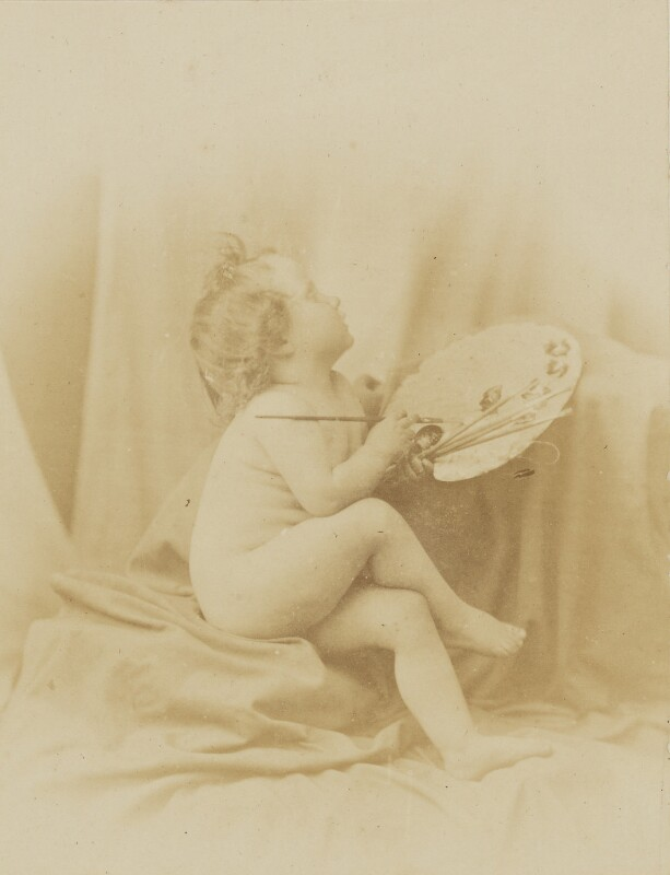 'Art must assist Photography' (Putto as Allegory of Painting), by Oscar Gustav Rejlander, 1856 - NPG P2011(1) - © National Portrait Gallery, London