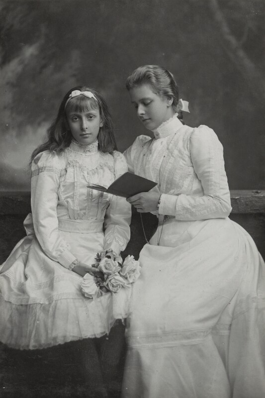 Queen Louise of Sweden (née Lady Louise Alexandra Marie Irene Mountbatten); Princess Alice of Greece and Denmark, by Lafayette, 1900s - NPG Ax26444 - © National Portrait Gallery, London