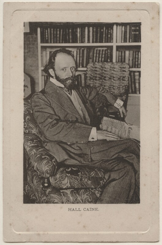 Sir (Thomas Henry) Hall Caine, published by E. Wrench, 1900s (circa 1902) - NPG x196474 - © National Portrait Gallery, London