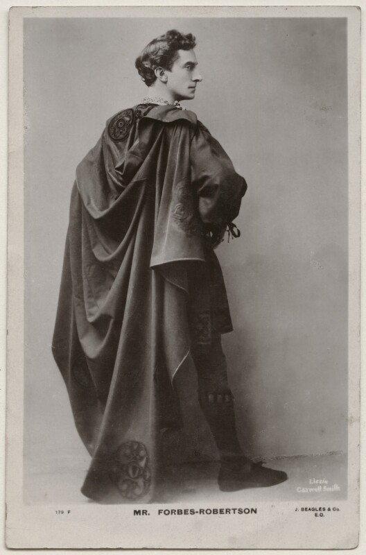 Sir Johnston Forbes-Robertson as Hamlet in 'Hamlet', by Lizzie Caswall Smith, published by  J. Beagles & Co, 1900s (1897) - NPG x196357 - © National Portrait Gallery, London